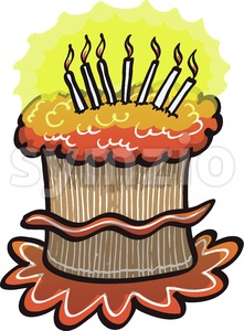 Happy Birthday cake Stock Vector