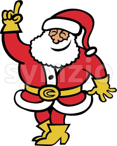 Santa Claus rising his hand to ask a question Stock Vector