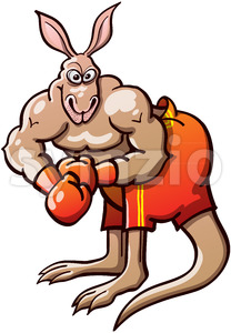 Terrific boxing kangaroo Stock Vector
