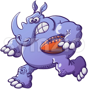 Terrific rhinoceros playing rugby Stock Vector