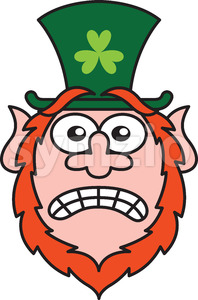 Saint Patrick's Day Leprechaun feeling scared Stock Vector