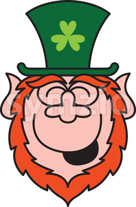 St Paddy's Day Leprechaun laughing enthusiastically Stock Vector
