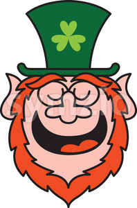 Saint Patrick's Day Leprechaun feeling proud and smiling Stock Vector