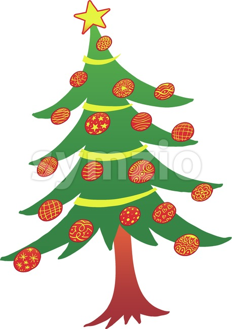 Beautiful Christmas tree Stock Vector