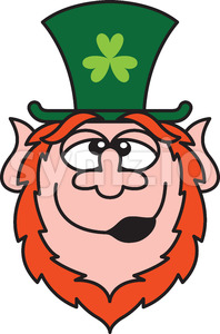 We finally found a drunk Leprechaun at Saint Patrick's Day! Stock Vector