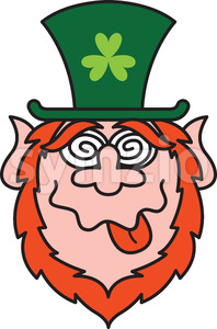 Green Leprechauns get crazy celebrating St Paddy's Day! Stock Vector