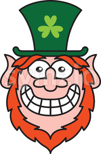 Mischievous Leprechaun feeling embarrassed Stock Vector