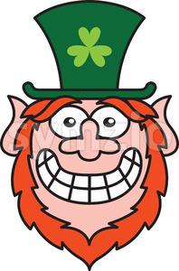 Mischievous Leprechaun feeling embarrassed Stock Vector