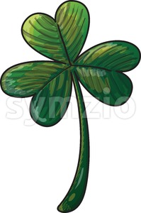 Saint Paddy's Day shamrock clover Stock Vector
