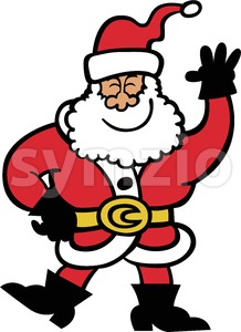 Cool Santa Claus greeting Stock Vector