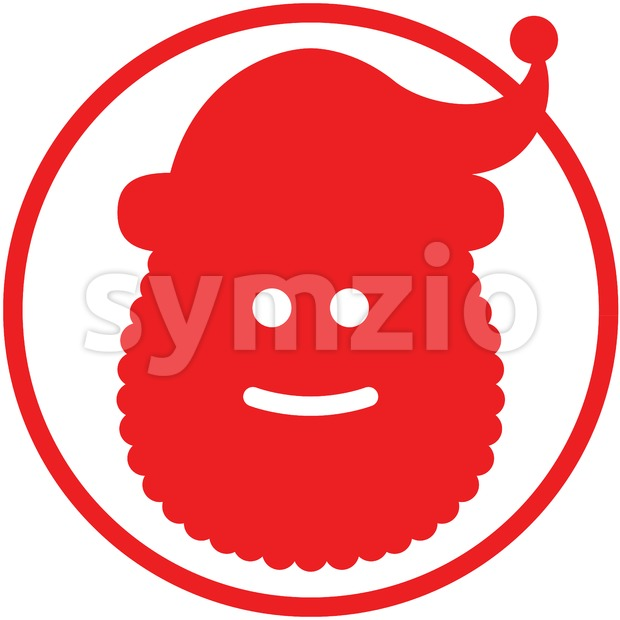 Christmas Santa Claus pictogram Stock Vector