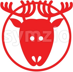 Christmas reindeer pictogram Stock Vector