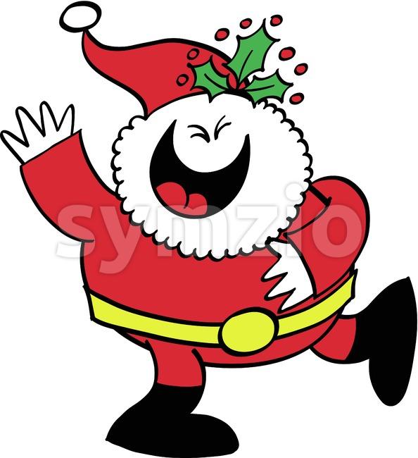 Cool Santa Claus celebrating animatedly Stock Vector