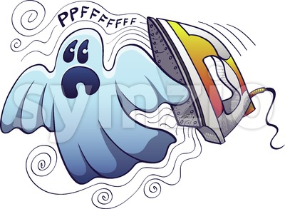 Ironing, a Halloween ghost nightmare Stock Vector