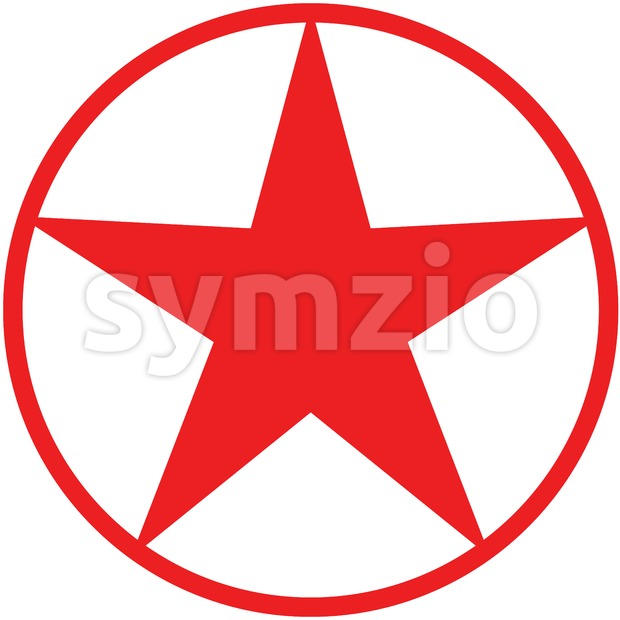 Christmas star pictogram Stock Vector