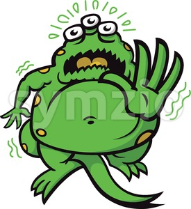 Fearful monster trembling and keeping you away Stock Vector