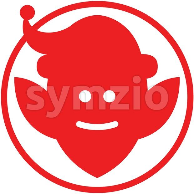 Christmas Santa elf pictogram Stock Vector