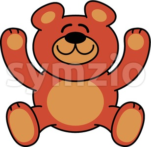 Smiling Teddy Bear Stock Vector
