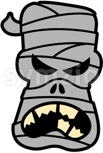 Angry Halloween mummy complaining Stock Vector