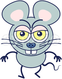 Naughty mouse smiling mischievously Stock Vector