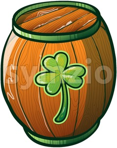 Lucky you, it's a Saint Patrick's Day beer barrel! Stock Vector