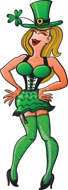Sexy woman disguised for Saint Patrick's Day Stock Vector