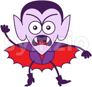 Halloween Dracula feeling furious and protesting Stock Vector